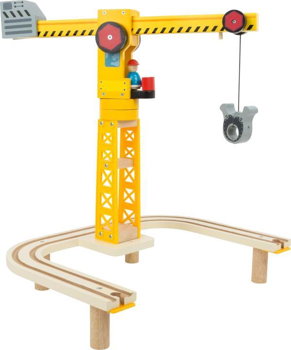 Houten constructiesite treinspoor