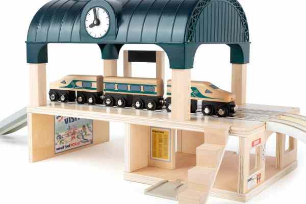 Houten treinspoor