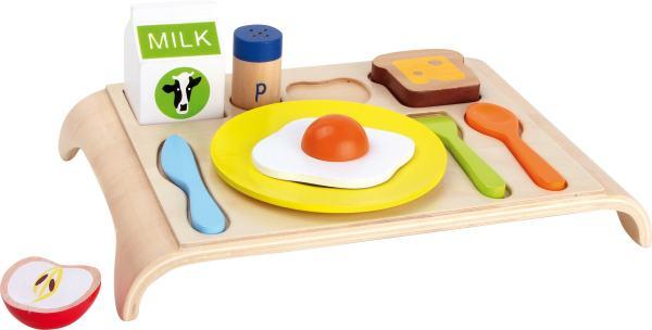 Houten ontbijt speelgoed