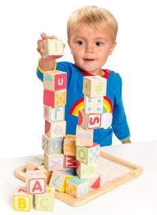 Houten speelgoed blokken puzzel