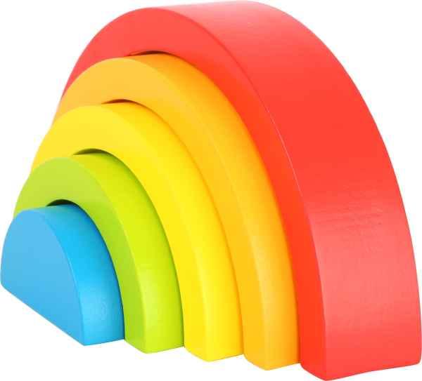 Houten regenboog