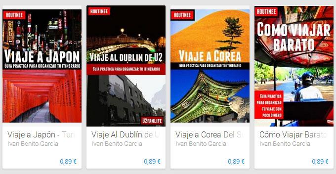 Las guías de viajes Houtinee disponibles en Google Play en formato PDF