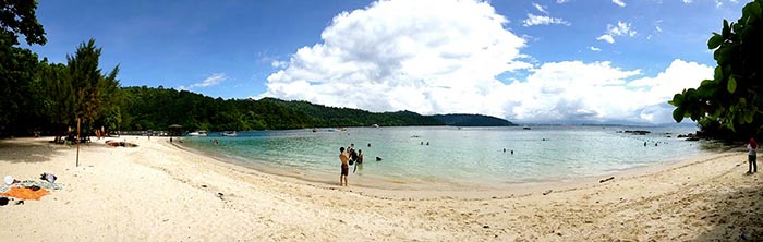 Playa de Mamutik, borneo