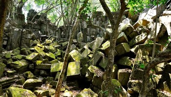 Templo de Beng Melea en Camboya