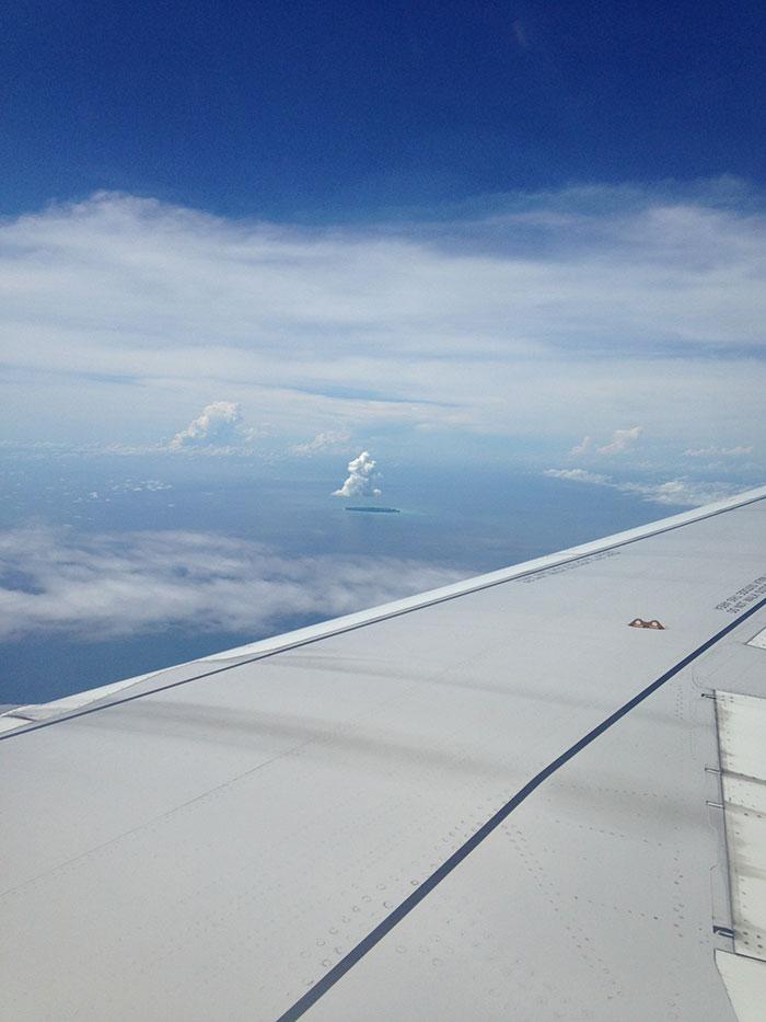 Llegando en avión a Kota Kinabalu, Borneo
