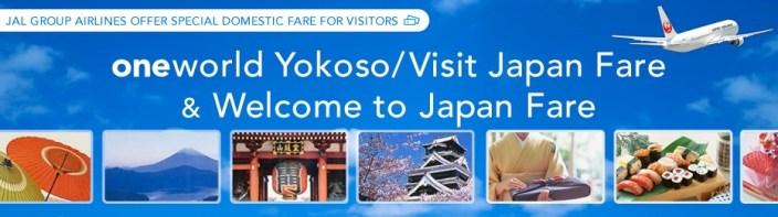 oneworld Yokoso/Visit Japan Fare.