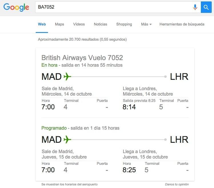La manera más sencilla y rápida de comprobar los datos de tu vuelo en tiempo real