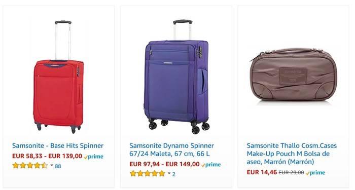 Visitando directamente las maletas Samsonite rebajadas de precio