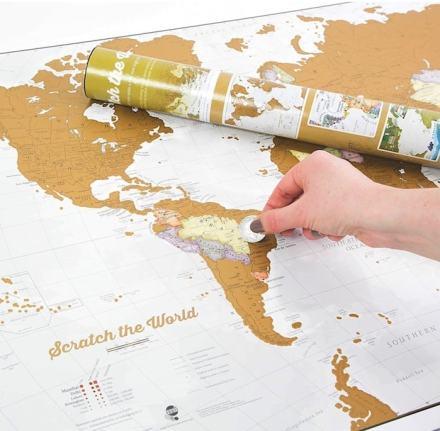 Rasca el Mundo con Maps International - ¡Rasca los lugares a los que viajes!