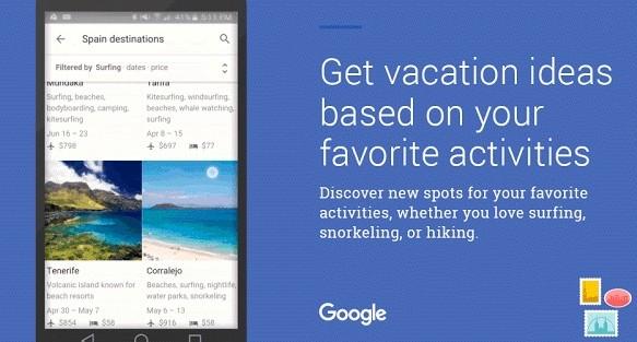 Google Destinations: Cómo reservar tus vacaciones desde tu móvil con Google