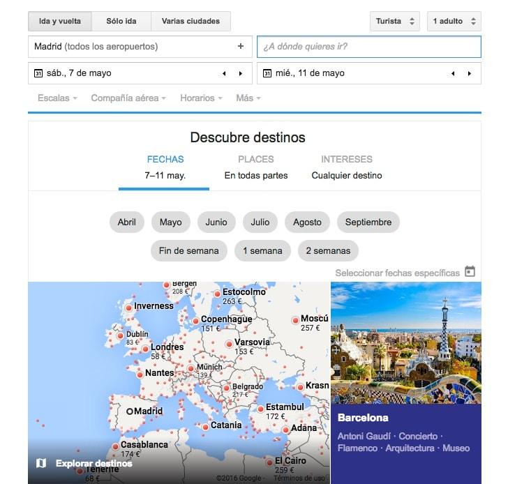Google Flights: cómo encontrar el viaje y el vuelo perfecto (y barato)