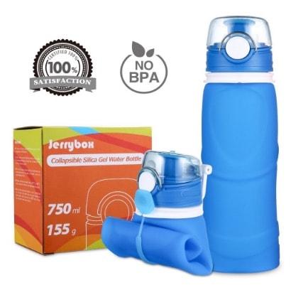Jerrybox Botella de Agua Reutilizable, libre de BPA, 750ml