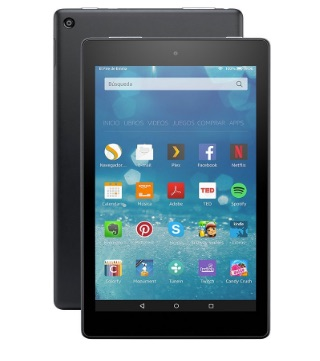 Fire HD 8 de Amazon, tablet con pantalla HD de 8'', Wi-Fi y 16 GB de almacenamiento