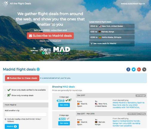 All The Flight Deals