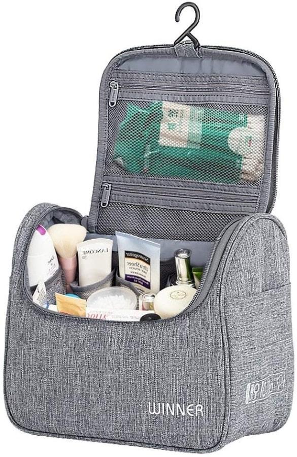 Kit organizador de cosas de baño para llevar en la maleta