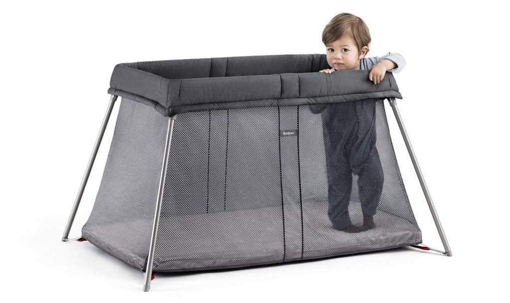 BabyBjörn Cuna De Viaje Easy Go con bolsa de transporte - Cuna de viaje plegable, color antracita