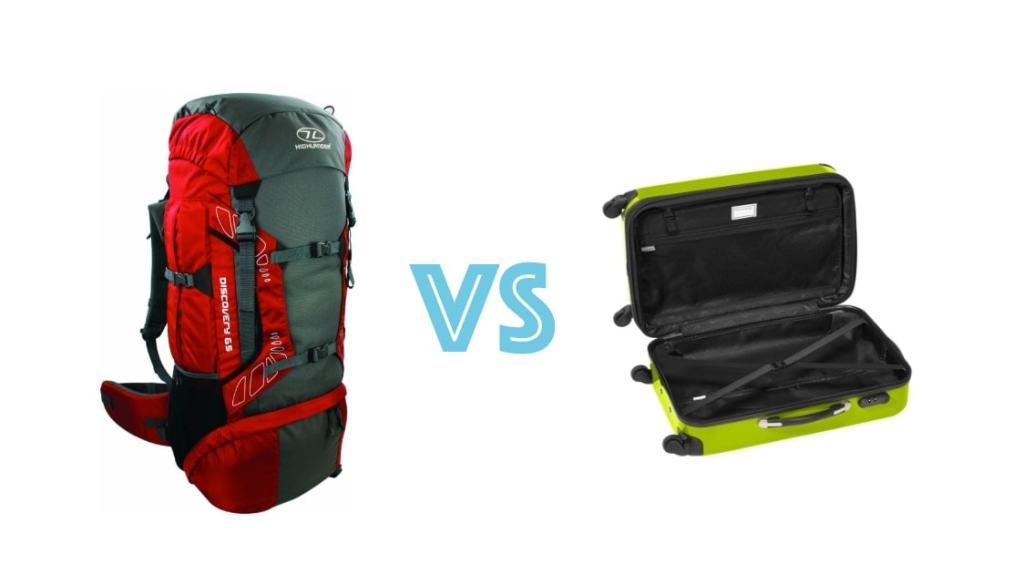¿Viajes con mochila o maleta?