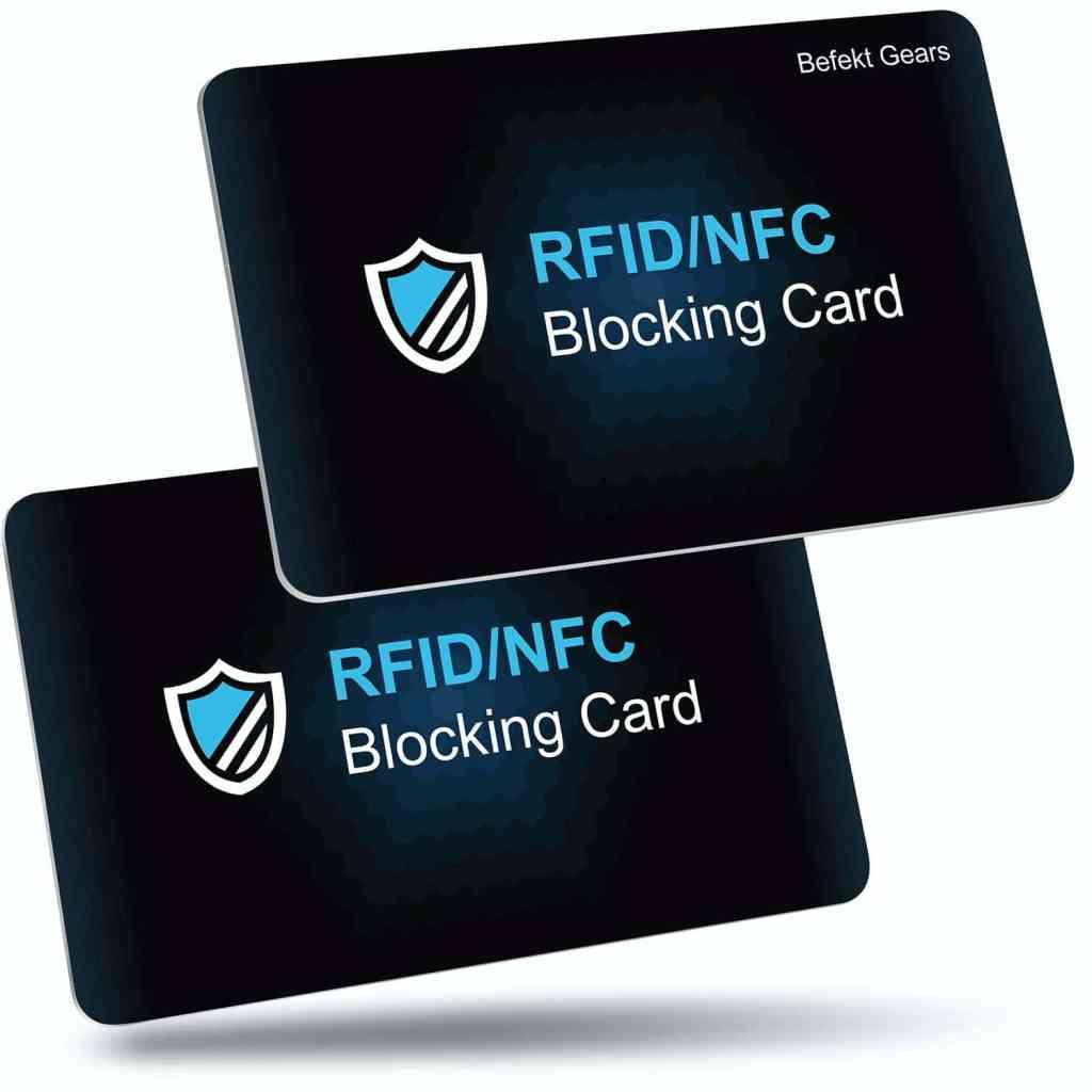 Tarjeta bloqueo RDIF para tu monedero