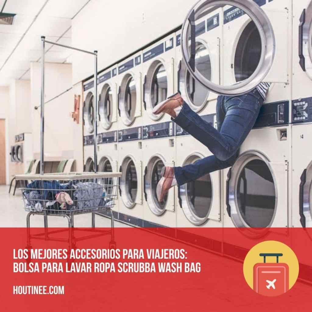 Los mejores accesorios para viajeros: bolsa para lavar ropa Scrubba Wash Bag