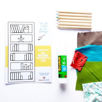knutselpakket om zelf een unieke boekenlegger te maken