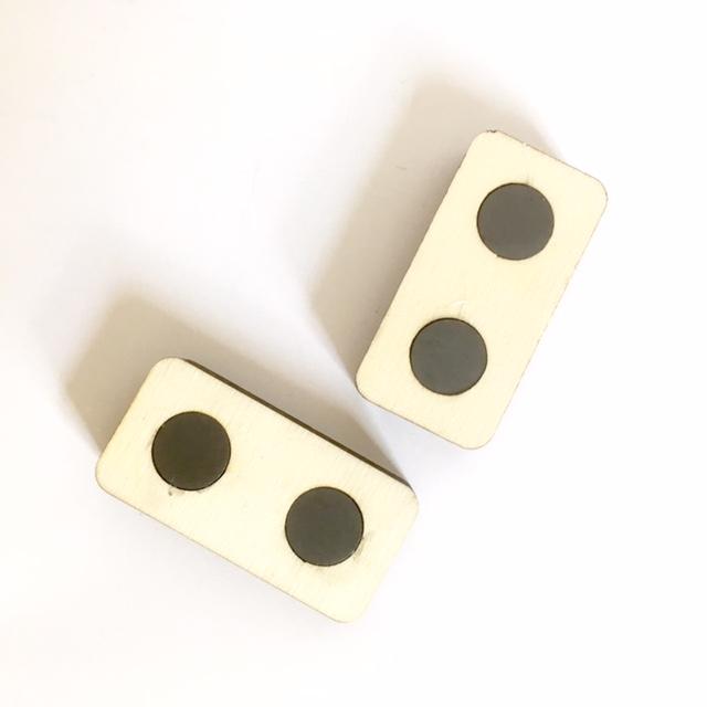 magnetische kaartenhouders van hout