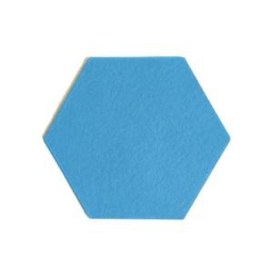 deze hexagoon blauwe onderzetter is handgemaakt hittebestendig en wasbaar