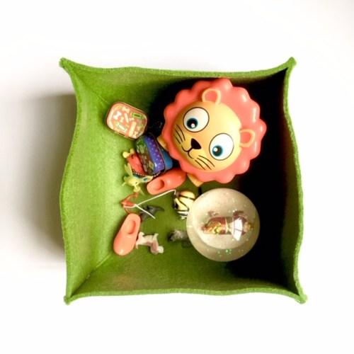 prachtige vilten mand is ook geschikt voor opbergen in de kinderkamer
