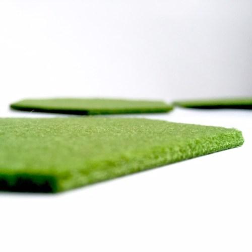 3mm dik vilt om je tafel te beschermen tegen kringen en krassen met deze prachtige onderzetters