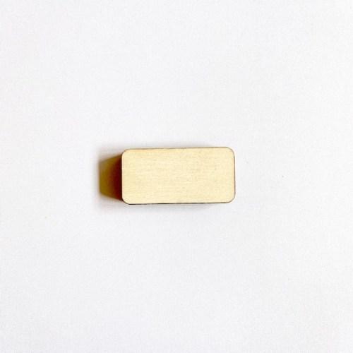 plak en klak magnetische kaartenhouder rechthoek handgemaakt van Hollands fsc hout