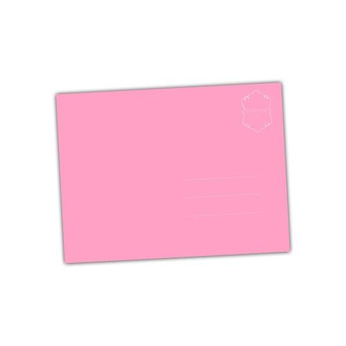 roze achterkant van een kaartje met een knipoog
