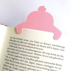vrolijke boekenlegger in de vorm van een konijntje