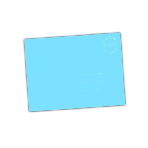 blauwe achterkant van een kaart