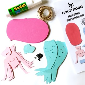 woonslinger pakket maak je eigen zeemeerminnen slinger