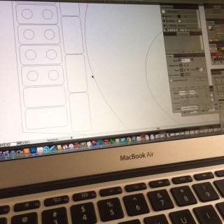 duurzaam houten kaartenhouders - het ontwerp op de computer