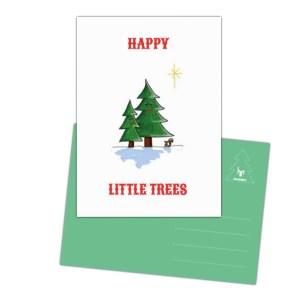 vrolijke kaart happy Little trees
