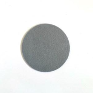 onderzetters van wasbaar vilt, ronde grijze onderzetter