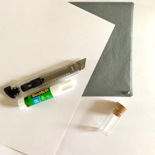 maak grijs honingraatpapier met dit leuke DIY pakket