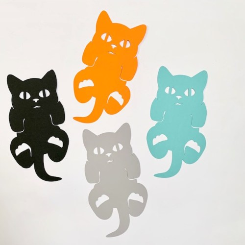 verschillende kleuren boekenlegger kitten
