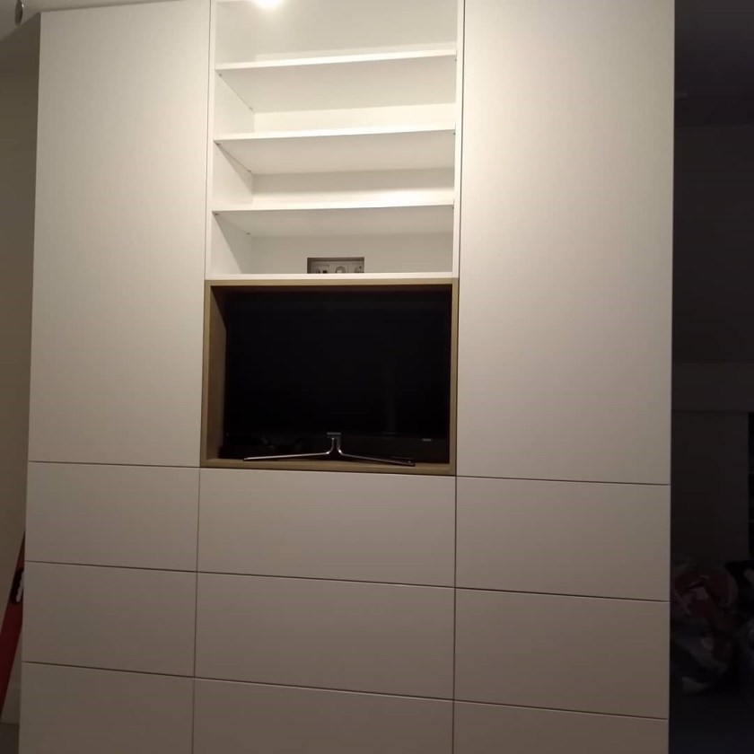 kast op maat met TV vak op slaapkamer Hengelo 2