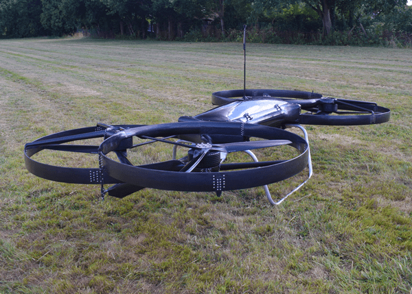 Hoverbike with saddle bags.