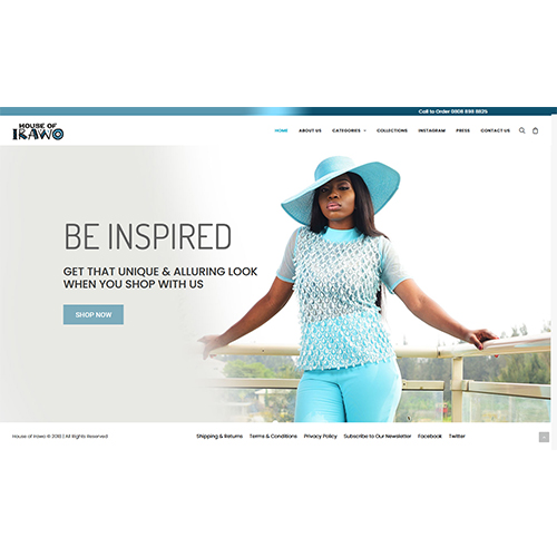 House of Irawo | Website Design Lagos