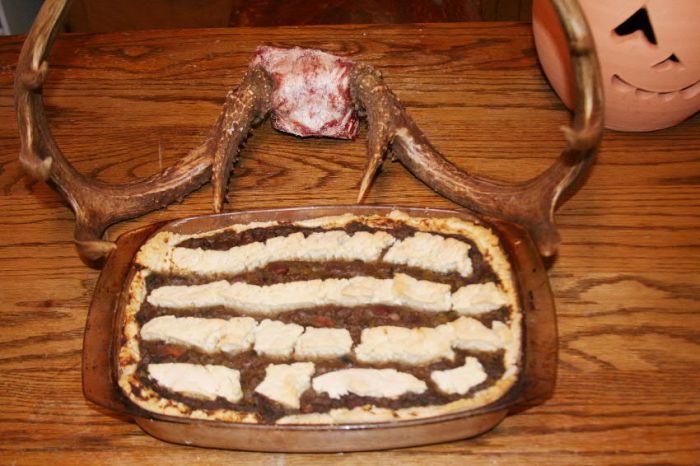 Halloween Deer Steak and Kidney Pie