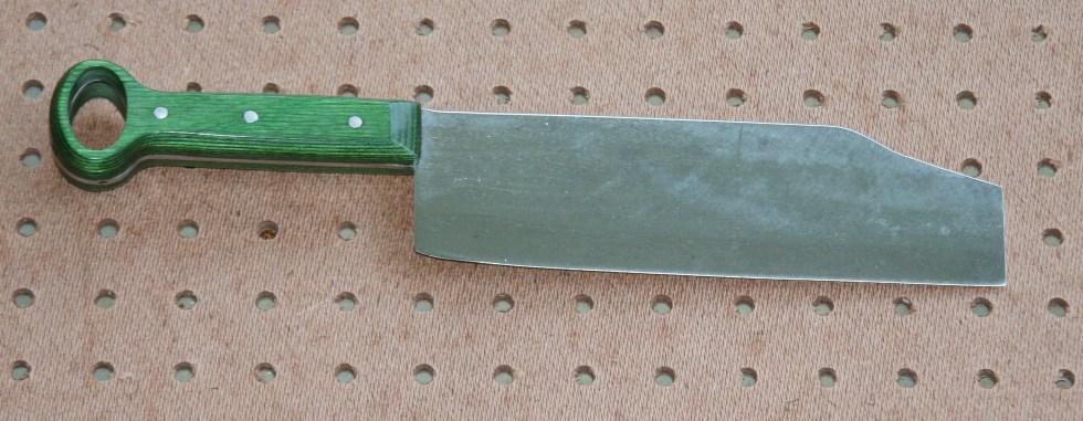 Pepper knife on pegboard