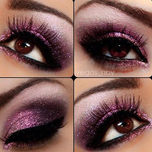 Sultry Purple Smokey Eyes