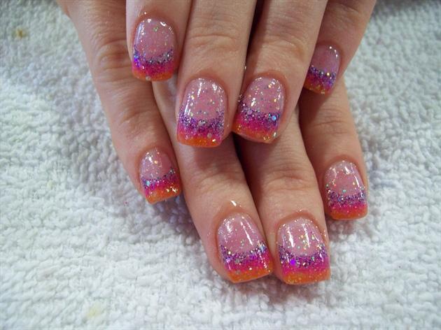 Sunset Acrylic nails