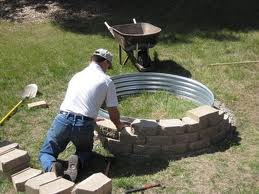 "For the future home: Simple ""How To"" Firepit"