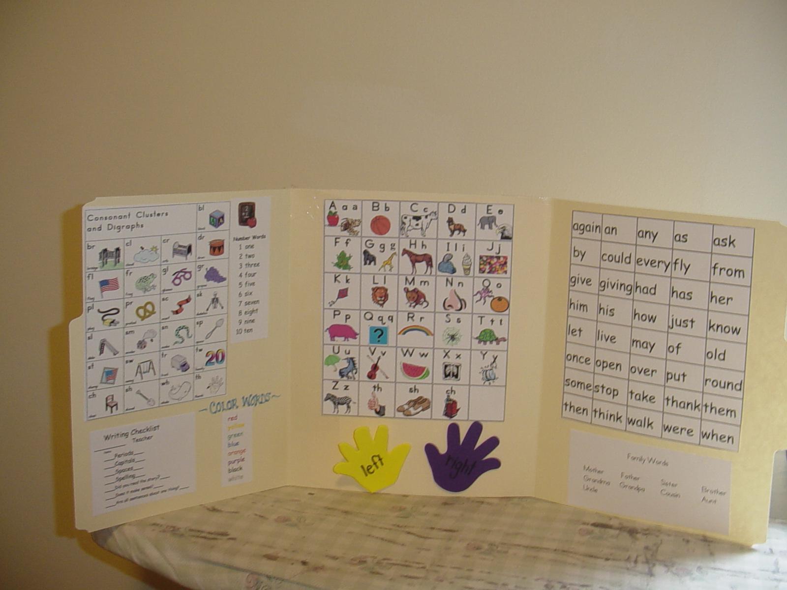 1st grade writing mini-office