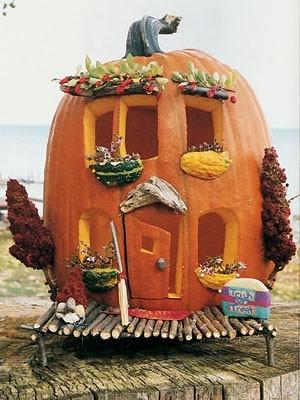 Cute Carved Pumpkins
