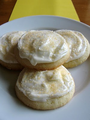Lemon sugar cookies with lemon cream cheese frosting. Love lemon!