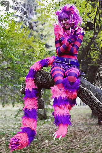 Chesire Cat…. Wow! Great costume!!!!